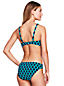 Women's Beach Living Twist Bikini Top Shadow Geo