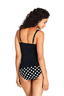 Women's D-Cup Wrap Underwire Tankini Top Swimsuit, Back