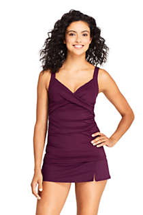 Women's Wrap Underwire Tankini Top Swimsuit, Front