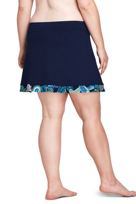 Women's Plus Size Mini SwimMini with Tummy Control