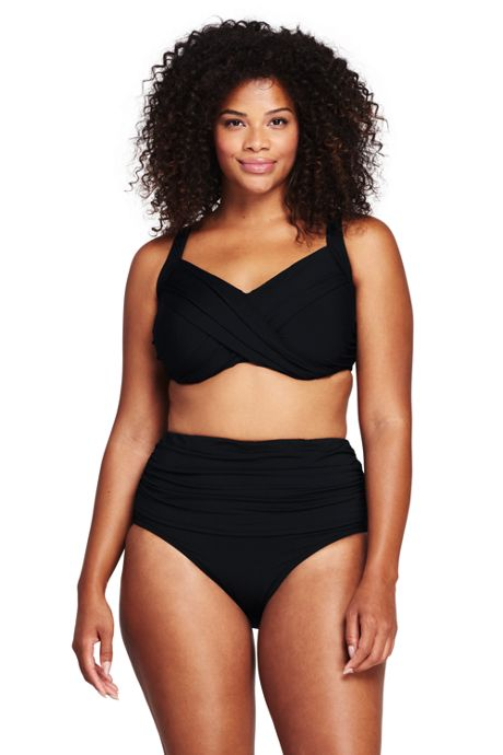 Women's Plus Size Underwire Wrap Bikini Top