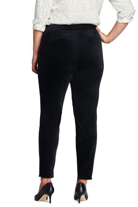 Women's Plus Size Velvet Pencil Pant