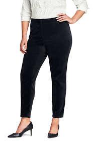 Women's Plus Size Velvet Pencil Pants