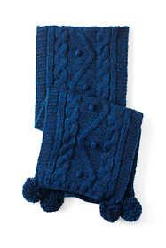 Women's Aran Popcorn Knit Scarf