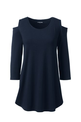 Women's Cotton/Modal Cold Shoulder Top