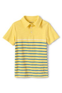 Boys' Striped Slub Polo Shirt