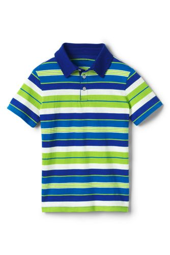 Toddler Boys' Striped Jersey Polo Shirt