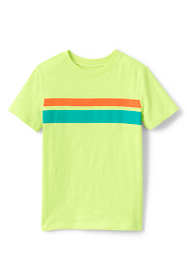 Boys Chest Stripe Slub T Shirt