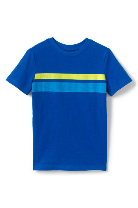 Little Boys Chest Stripe Slub T Shirt