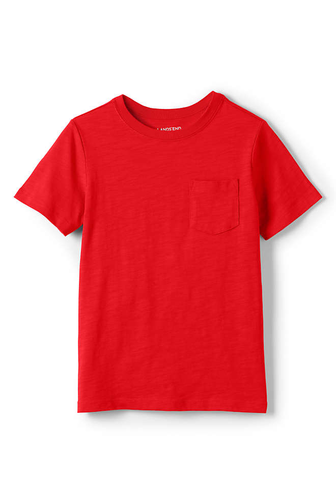 Boys Solid Slub T Shirt, Front