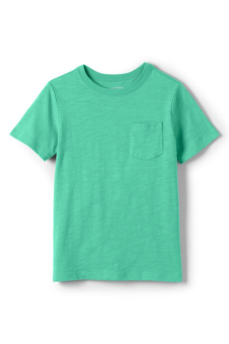 Boys Solid Slub T Shirt
