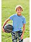 Jersey-Shirt mit Allover-Streifen für kleine Jungen