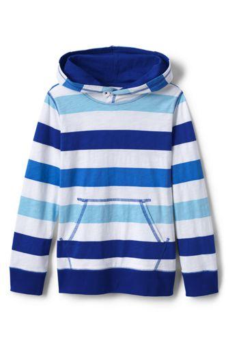 Little Boys' Slub Jersey Striped Pullover Hoodie