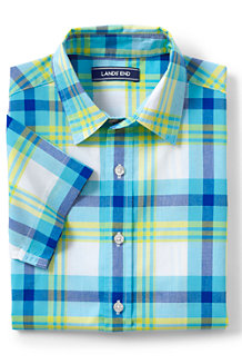 Boys' Checked Short Sleeve Shirt