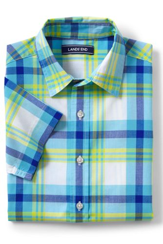 Toddler Boys' Checked Short Sleeve Shirt