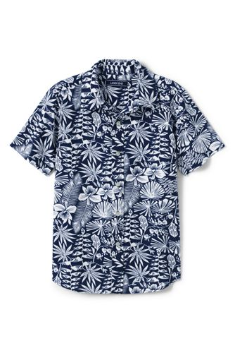 Little Boys' Printed Short Sleeve Shirt