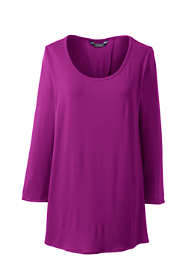 Women's 3/4 Sleeve Pleat Back Tunic