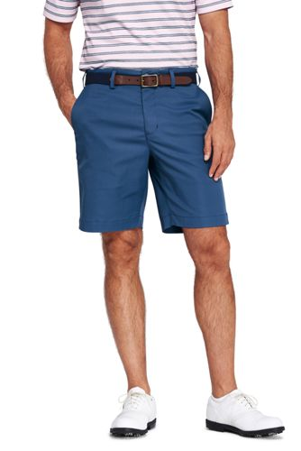 Mens Performance Chino Shorts - 30 - BLUE Lands End