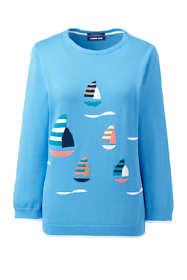 Women's Tall 3/4 Sleeve Supima Cotton Sweater