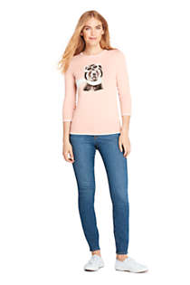 Women's Petite 3/4 Sleeve Supima Cotton Sweater, Unknown