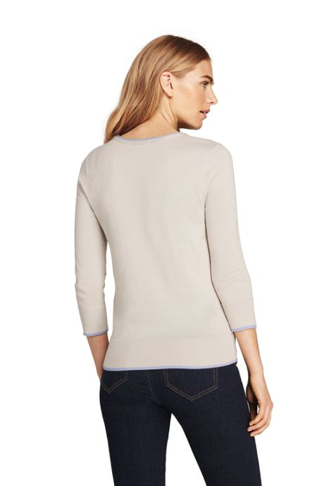 Women's 3/4 Sleeve Supima Cotton Sweater