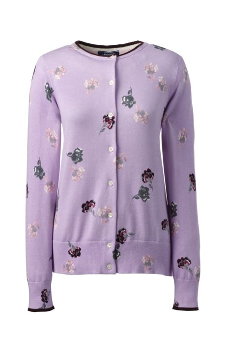 Women's Tall Supima Cotton Cardigan Sweater