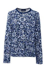 Women's Tall Supima Cotton Long Sleeve Cardigan Sweater - Print