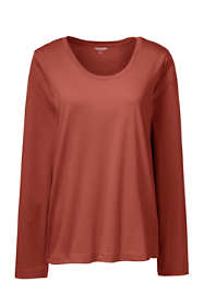 Women's Long Sleeve T-shirt Supima Cotton Scoop Neck