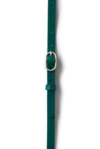 Women's Plus Size Skinny Leather Belt