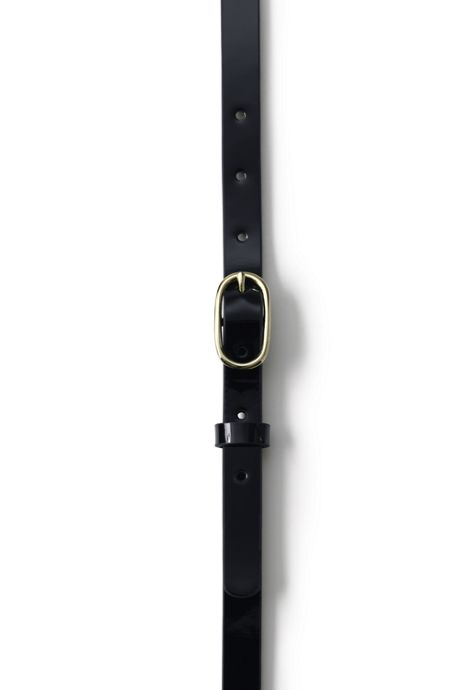 School Uniform Women's Skinny Leather Belt