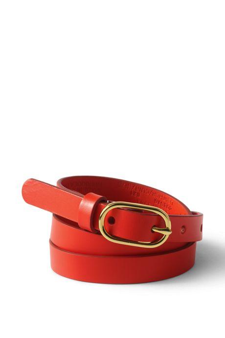 Women's Skinny Leather Belt