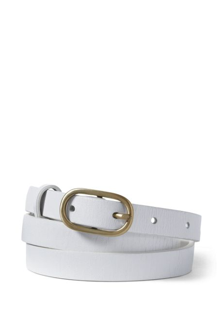 Women's Plus Size Skinny Leather Belt