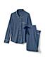 Gestreiftes Pyjama-Set aus Modal für Damen in Normalgröße