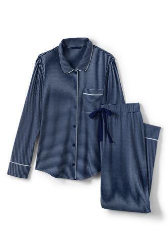 Le Pyjama Rayé 2 Pièces en Modal Stretch, Femme Stature Standard