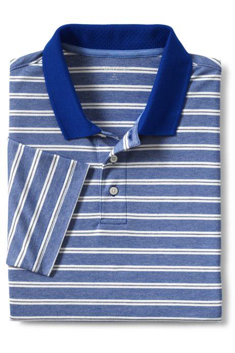 Men's Short Sleeve Stripe Oxford Golf Polo