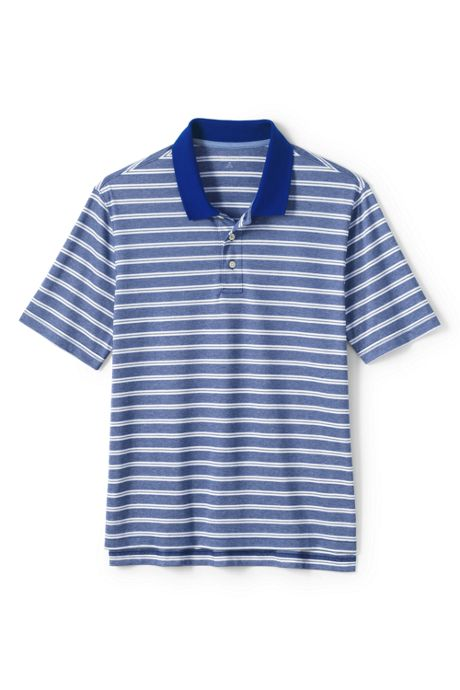Men's Short Sleeve Stripe Oxford Golf Polo