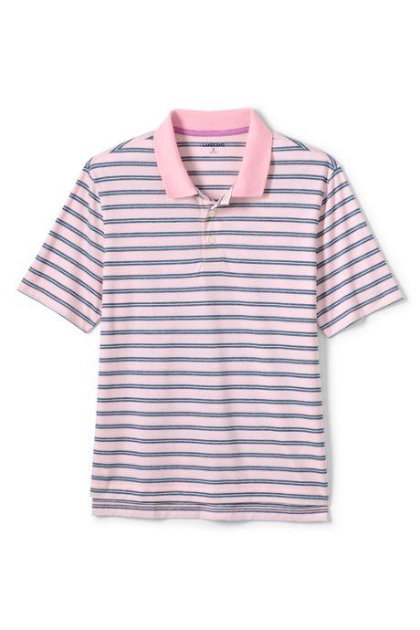 Men's Tall Short Sleeve Stripe Oxford Golf Polo