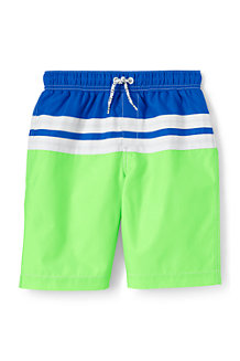 Boys' Colourblock Stripe Swim Shorts