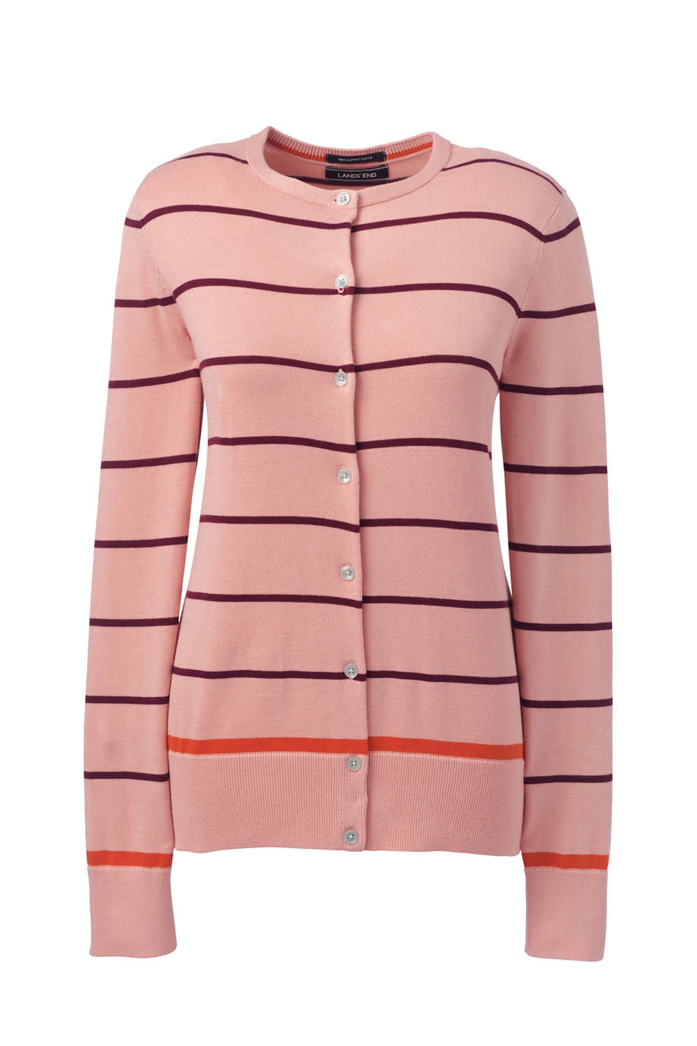 71d13cce6a Women s Supima Cardigan Stripe Sweater from Lands  End
