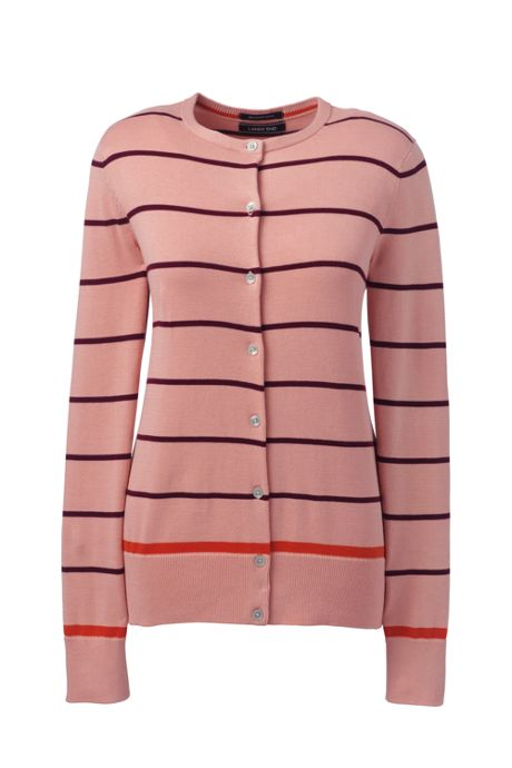 Women's Petite Supima Cardigan Stripe Sweater