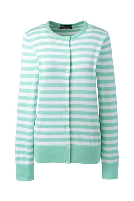 Women's Supima Cardigan Stripe Sweater