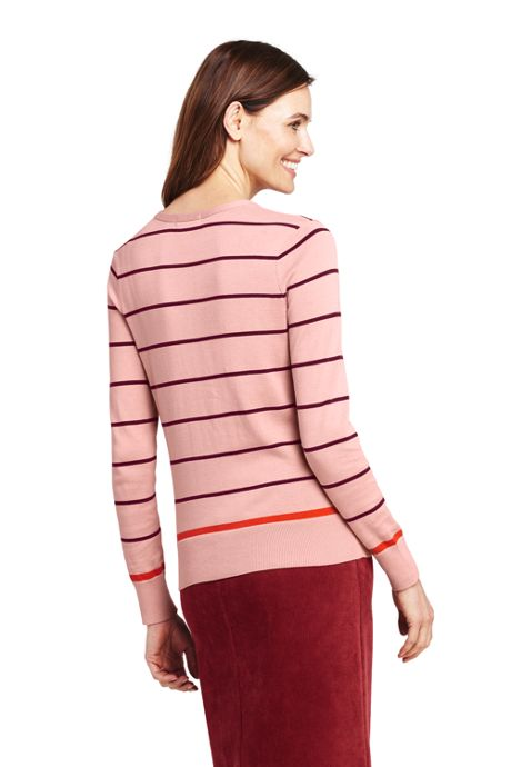 Women's Petite Supima Cardigan Stripe Sweater