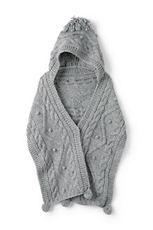 Women's Aran Popcorn Hooded Scarf