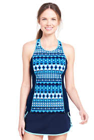 Women's D-Cup High-neck Tankini Top