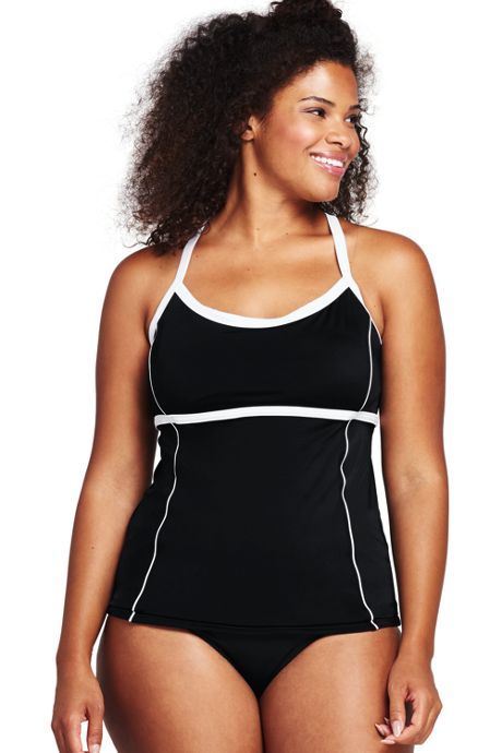 Women's Plus Size Scoopneck Tankini Top