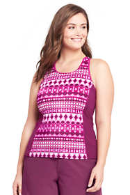 Women's Plus Size High-neck Tankini Top