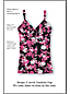 Women's Shape & Enhance Rose Print V-neck Tankini Top
