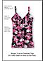 Women's Shape & Enhance Rose Print V-neck Tankini Top