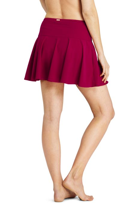 Women's Shaping Flounce SwimMini Swim Skirt with Tummy Control
