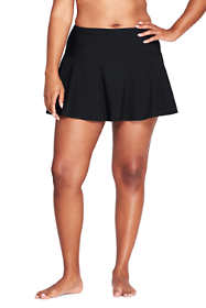 Women's Plus Size Shaping Flounce SwimMini Swim Skirt with Tummy Control